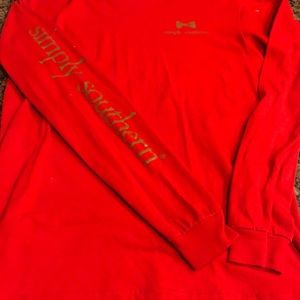 Simply Southern long sleeve T-shirt. Size S. Red